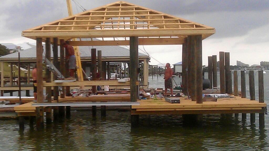 Boathouse under construction