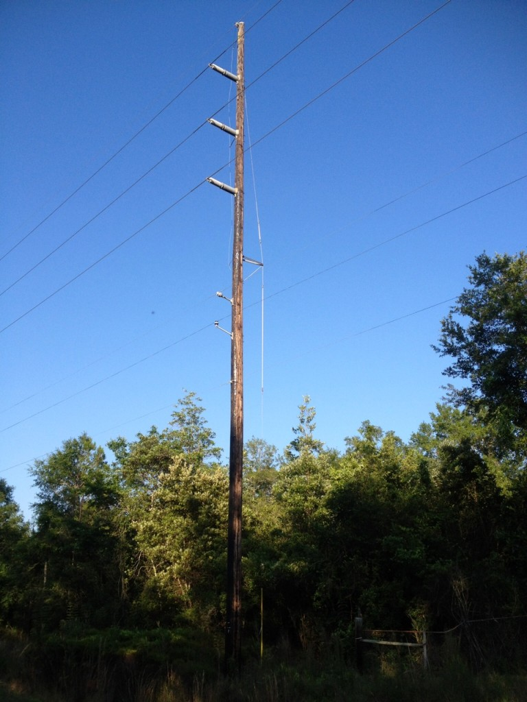 transmission pole, 30 yrs in service